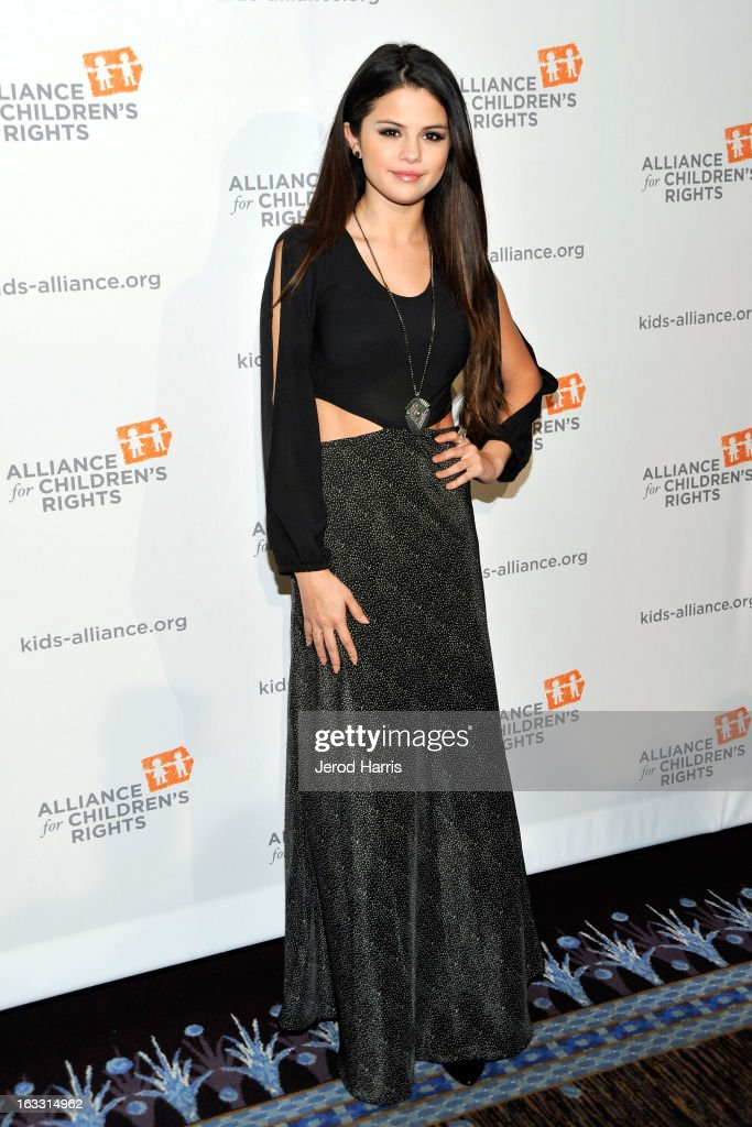 Selena Gomez arrives at The Alliance for Children's Rights 21st annual gala at The Beverly Hilton Hotel on March 7, 2013 in Beverly Hills, California.