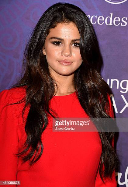 Selena Gomez arrives at the Variety And Women In Film Annual PreEmmy Celebration at Gracias Madre on August 23 2014 in West Hollywood California