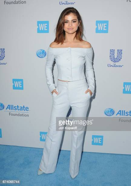 Selena Gomez arrives at We Day California 2017 at The Forum on April 27 2017 in Inglewood California