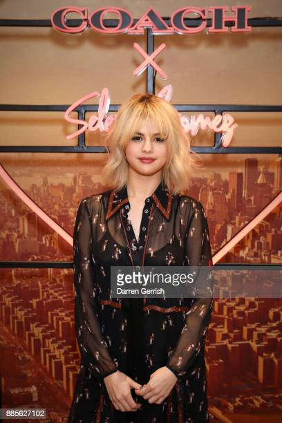 Selena Gomez at Coach House Regent Street to celebrate the Selena Grace Bag on December 4 2017 in London England