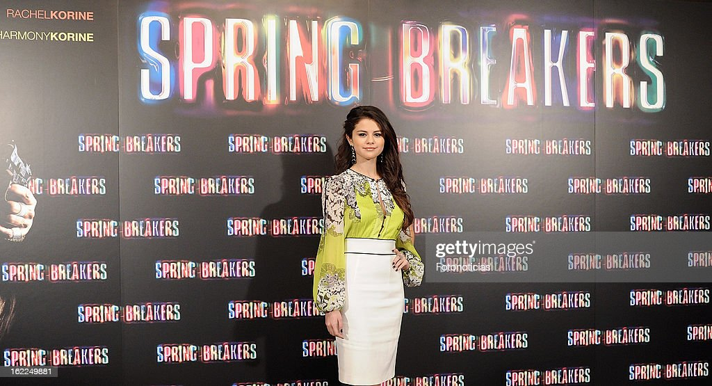 Selena Gomez attends a photocall for Spring Breakers at the Villamagna Hotel on February 21, 2013 in Madrid, Spain.