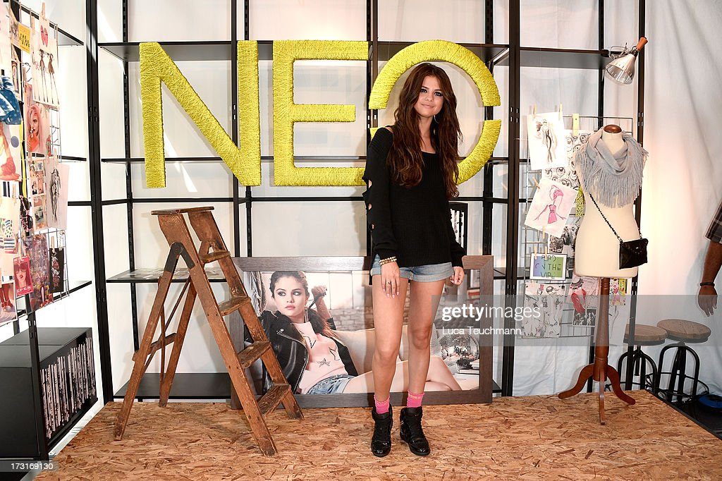 <a gi-track='captionPersonalityLinkClicked' href=/galleries/search?phrase=Selena+Gomez&family=editorial&specificpeople=4295969 ng-click='$event.stopPropagation()'>Selena Gomez</a> attends a photocall to launch the <a gi-track='captionPersonalityLinkClicked' href=/galleries/search?phrase=Selena+Gomez&family=editorial&specificpeople=4295969 ng-click='$event.stopPropagation()'>Selena Gomez</a> by adidas NEO collection on July 9, 2013 in Berlin, Germany.