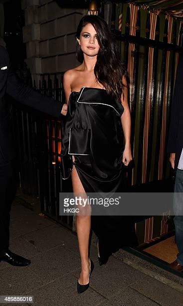 Selena Gomez attends Annabel's member's club for an exclusive performance and VIP dinner on September 24 2015 in London England