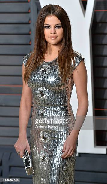 Selena Gomez attends the 2016 Vanity Fair Oscar Party hosted By Graydon Carter at Wallis Annenberg Center for the Performing Arts on February 28 2016...