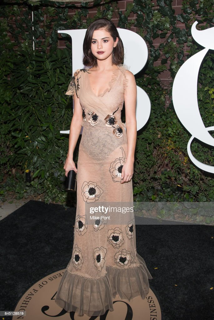 Selena Gomez attends the 2017 BoF 500 Gala at Public Hotel on September 9, 2017 in New York City.