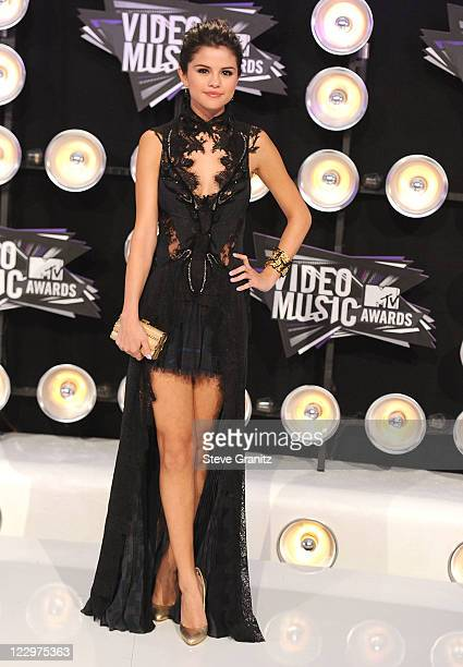 Selena Gomez attends the 28th Annual MTV Video Music Awards at Nokia Theatre LA Live on August 28 2011 in Los Angeles California