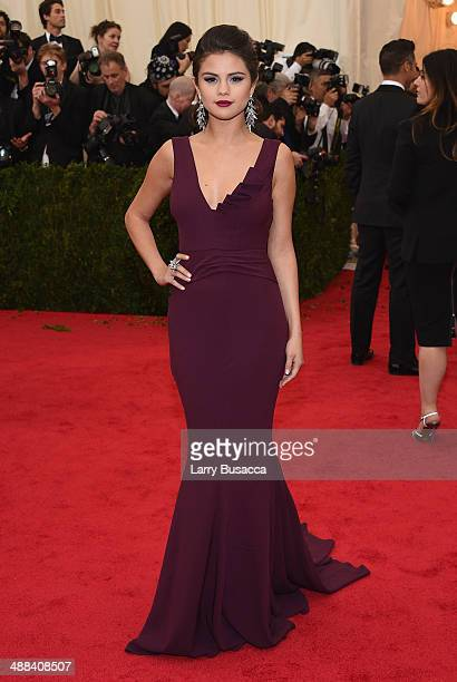 Selena Gomez attends the 'Charles James Beyond Fashion' Costume Institute Gala at the Metropolitan Museum of Art on May 5 2014 in New York City