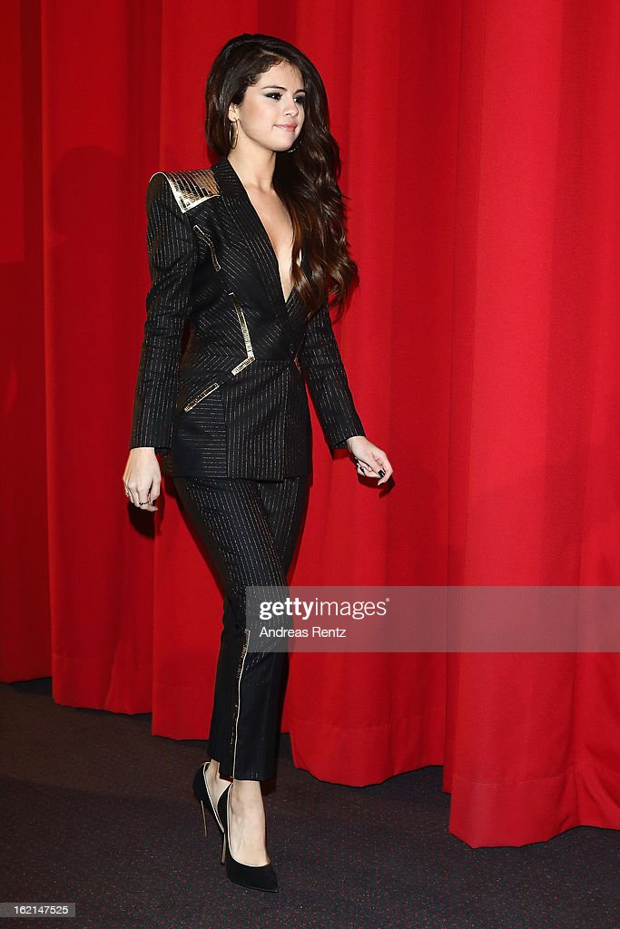 Selena Gomez attends the 'Spring Breakers' Germany premiere at CineStar on February 19, 2013 in Berlin, Germany.
