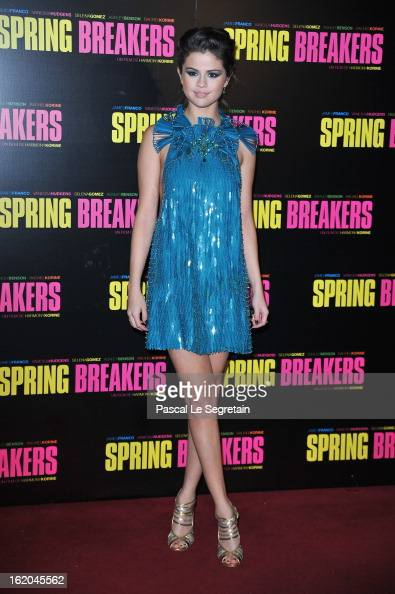 Selena Gomez attends the 'Spring Breakers' Paris Premiere at Le Grand Rex on February 18 2013 in Paris France