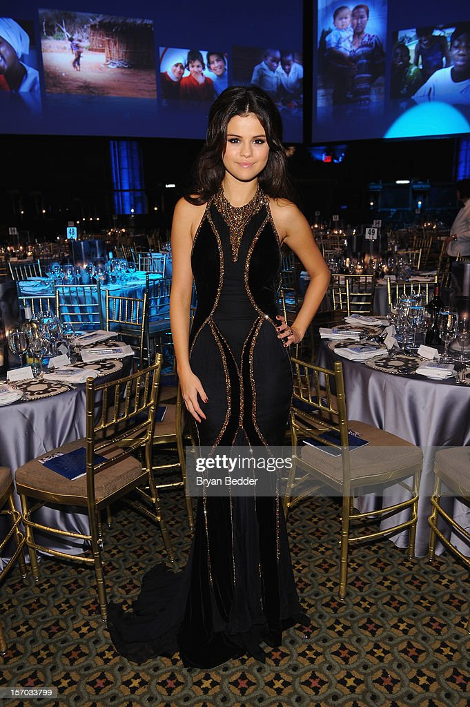 <a gi-track='captionPersonalityLinkClicked' href=/galleries/search?phrase=Selena+Gomez&family=editorial&specificpeople=4295969 ng-click='$event.stopPropagation()'>Selena Gomez</a> attends the Unicef SnowFlake Ball at Cipriani 42nd Street on November 27, 2012 in New York City.