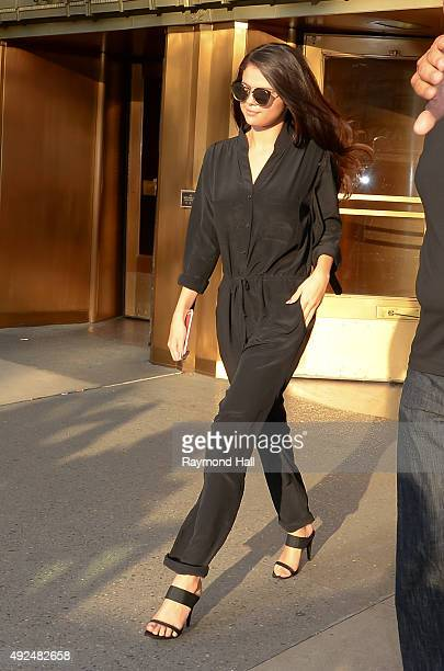 Selena Gomez is seen coming out of Z100 on October 13 2015 in New York City