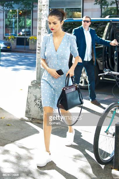 Selena Gomez is seen in SoHo on October 18 2017 in New York City
