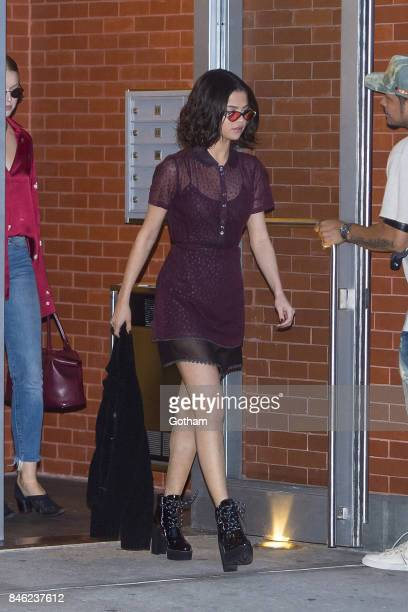Selena Gomez is seen in the Greenwich Village on September 12 2017 in New York City