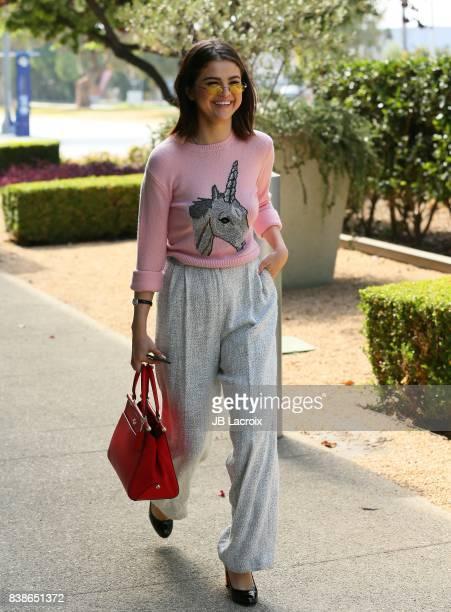 Selena Gomez is seen on August 24 2017 in Los Angeles California