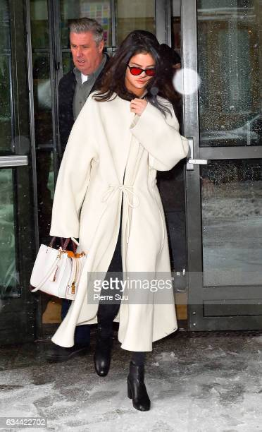Selena Gomez leaves her Hotel on February 9 2017 in New York City