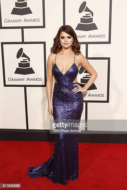Selena Gomez on the Red Carpet at THE 58TH ANNUAL GRAMMY AWARDS broadcast on the CBS Television Network on Monday Feb 15 2016 at STAPLES Center in...