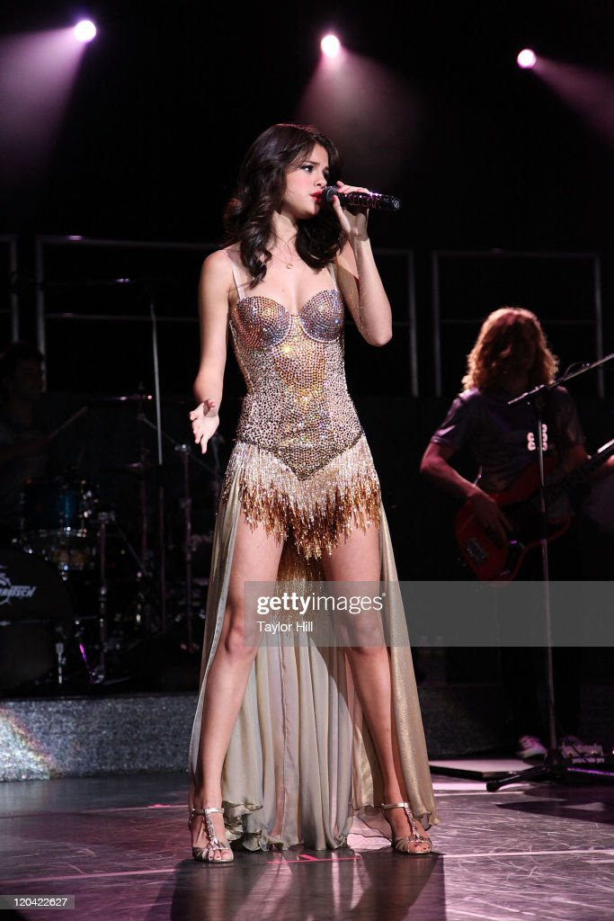 Selena Gomez performs at Bethel Woods Art Center on August 5, 2011 in Bethel, New York.