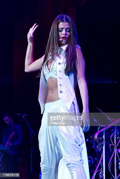 Selena Gomez performs at Pepsi Live at Rogers Arena on August 14 2013 in Vancouver Canada