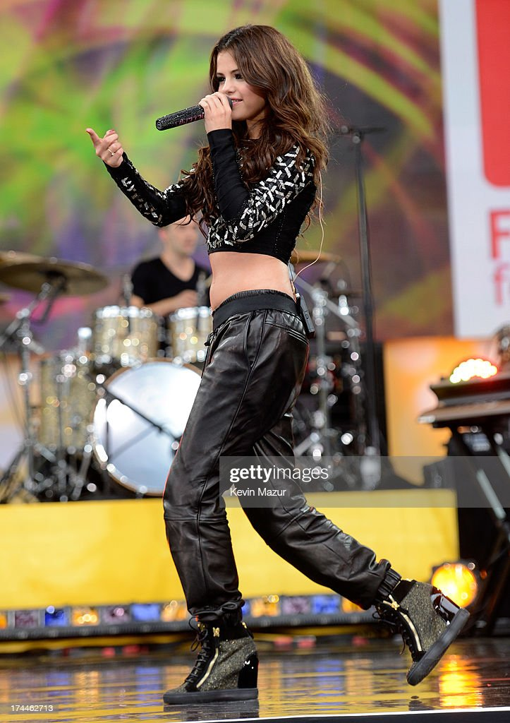 <a gi-track='captionPersonalityLinkClicked' href=/galleries/search?phrase=Selena+Gomez&family=editorial&specificpeople=4295969 ng-click='$event.stopPropagation()'>Selena Gomez</a> performs during ABC's 'Good Morning America' at Rumsey Playfield on July 26, 2013 in New York City.