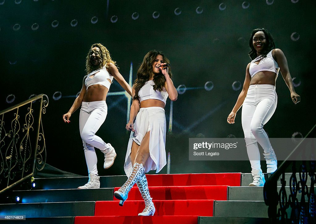 Selena Gomez performs in concert during her Stars Dance Tour at The Palace of Auburn Hills on November 26, 2013 in Auburn Hills, Michigan.