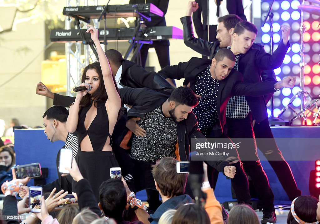 Selena Gomez performs on NBC's 'Today' at Rockefeller Plaza on October 12 2015 in New York City