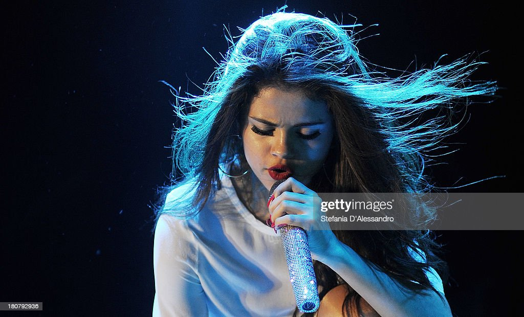 Selena Gomez performs on stage at Alcatraz on September 16, 2013 in Milan, Italy.