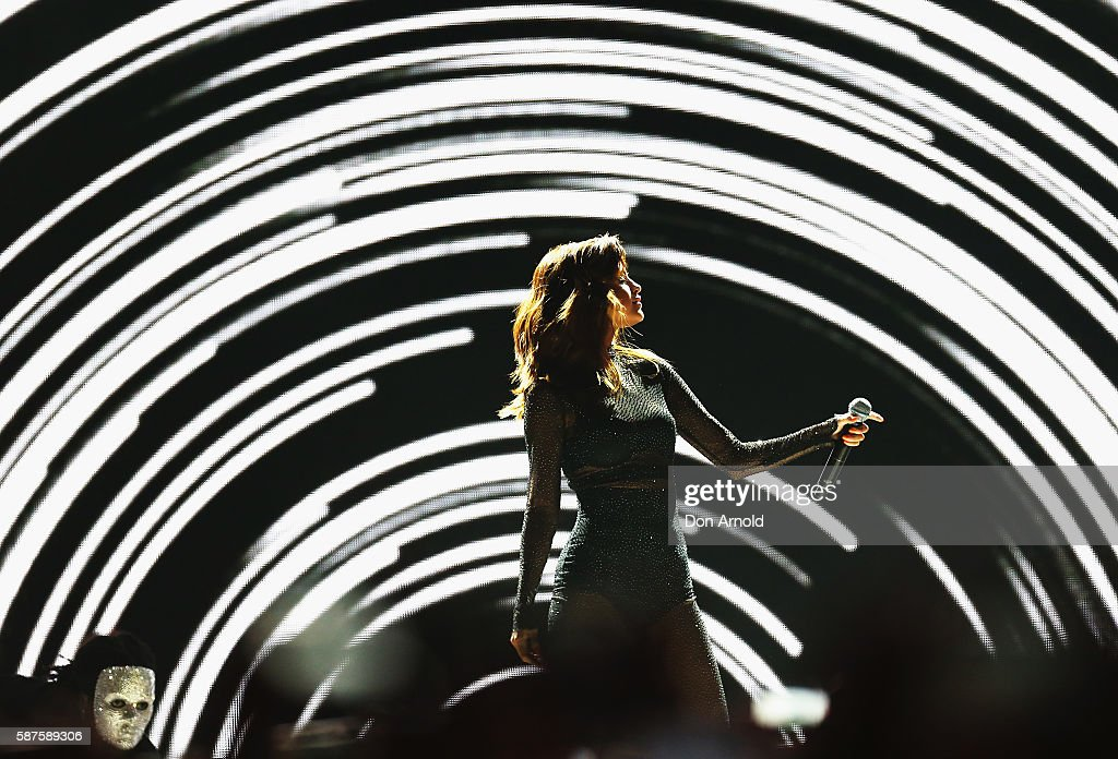 Selena Gomez performs on stage at Qudos Bank Arena on August 9, 2016 in Sydney, Australia.