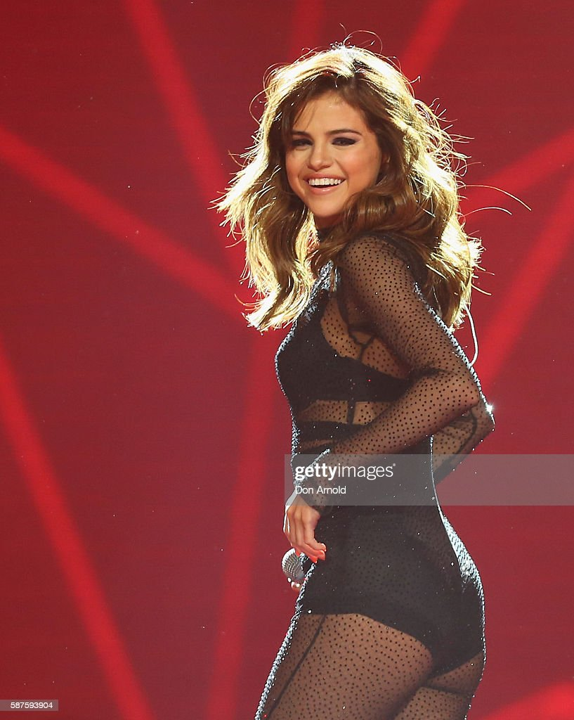 Selena Gomez performs on stage at Qudos Bank Arena on August 9 2016 in Sydney Australia