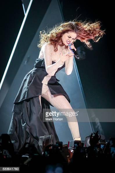 Selena Gomez performs onstage during her Revival Tour live at the Canadian Tire Centre on May 22 2016 in Ottawa Canada