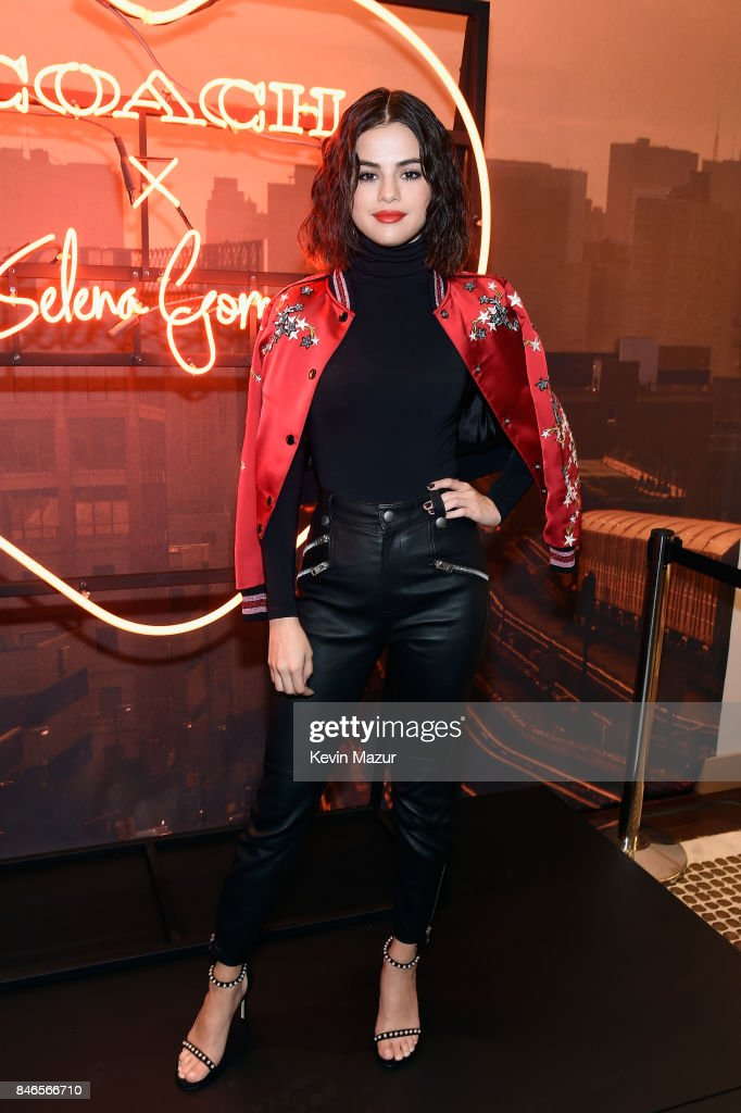 Selena Gomez poses during the Coach In-Store Event with Selena Gomez at Coach Boutique on September 13, 2017 in New York City.