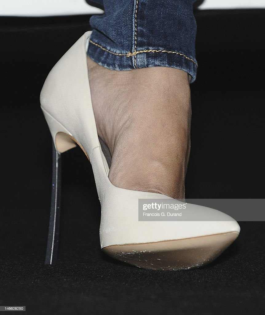 Selena Gomez (shoe detail) poses prior to the Viacom Seminar as part of Cannes Lions 59th International Festival of Creativity at Palais des Festivals on June 21, 2012 in Cannes, France.