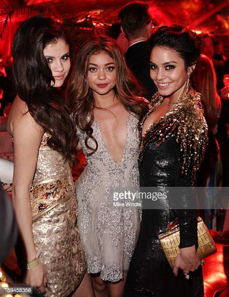 Selena Gomez Sarah Hyland and Vanessa Hudson attend the The Weinstein Company's 2013 Golden Globe Awards after party presented by Chopard HP Laura...