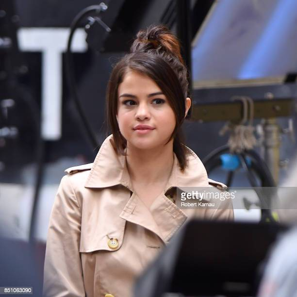 Selena Gomez seen at a Woody Allen film set in West Village on September 21 2017 in New York City