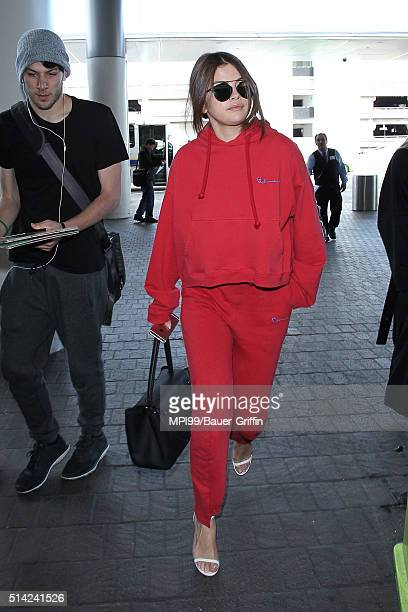 Selena Gomez seen at LAX International Airport on March 07 2016 in Los Angeles California