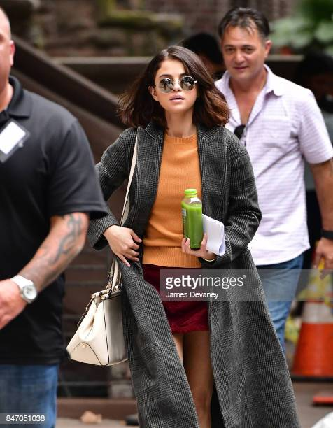 Selena Gomez seen on location for Woody Allen's untitled movie on September 14 2017 in New York City