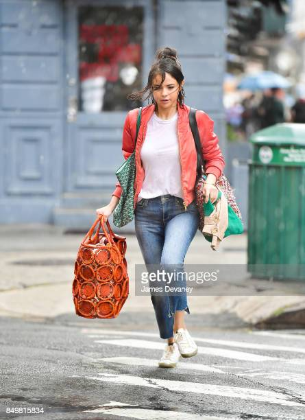 Selena Gomez seen on location for Woody Allen's untitled movie on September 19 2017 in New York City