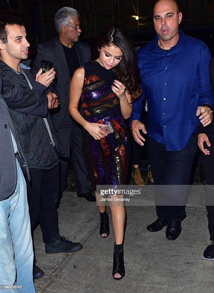 Selena Gomez seen on the streets of Manhattan on October 14, 2015 in New York City.
