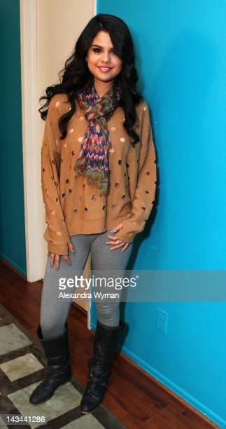 Selena Gomez visits Elvis Duran on April 26 2012 in Los Angeles California