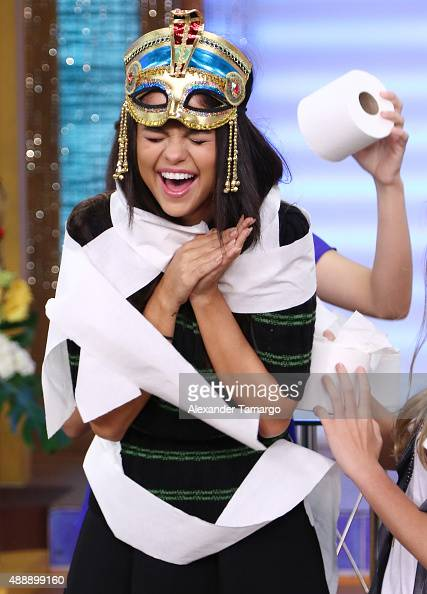Selena Gomez visits the set of 'Despierta America' to promote the film 'Hotel Transylvania 2' at Univision Studios on September 18 2015 in Miami...