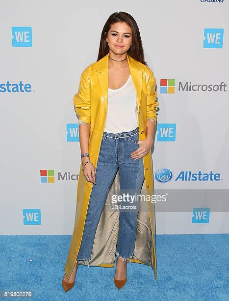 Selena Gomez walks the WE Carpet at WE Day California 2016 at The Forum on April 7 2016 in Inglewood California