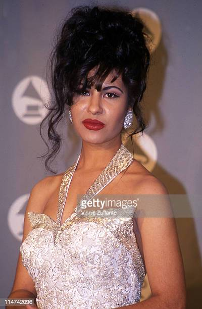 Selena in the press room at the 1994 Grammy Awards in New York City New York