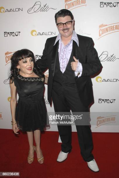 Selene Luna and Murray Hill attend Dita Von Teese Debuts 'Cointreau Teese' Cocktail at The Avalon on July 22 2009 in Los Angeles California
