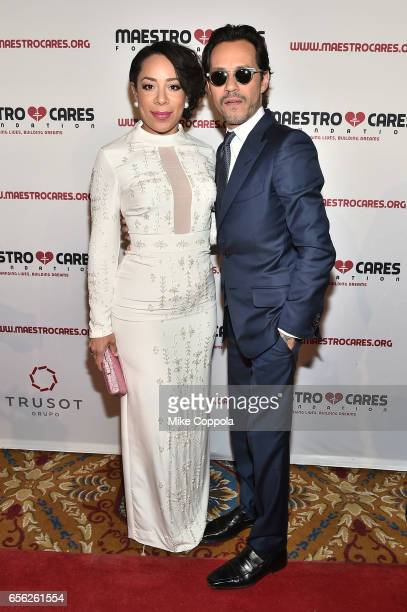 Selenis Leyva and Marc Anthony attend the Maestro Cares Foundation's fourth annual 'Changing Lives/Building Dreams' gala at Cipriani Wall Street on...