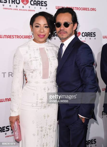 Selenis Leyva and Marc Anthony attend the Maestro Cares Foundation's 4th annual 'Changing Lives/Building Dreams' gala at Cipriani Wall Street on...