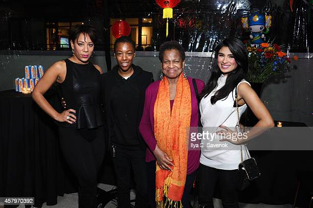 Selenis Leyva Samira Wiley Michelle Hurst and Diane Guerrero celebrate the launch of Sunset Overdrive at the XboxOne Loft on October 27 2014 in New...