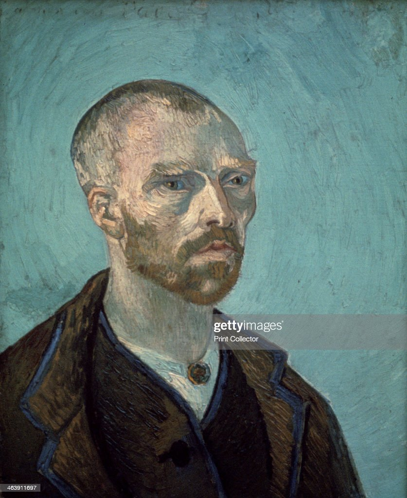 'Self Portrait', 1888. A self portrait of the artist that was dedicated to his friend Paul Gauguin. From the collection of the Fogg Art Museum, Harvard University, Cambridge, MA, U.S.A.