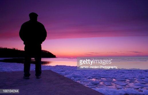 Self portrait at twilight : Stock-Foto