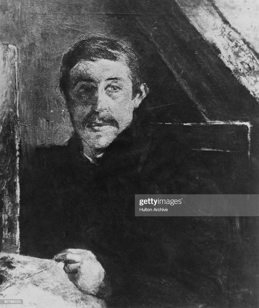 'Self Portrait Behind An Easel' by French Post-Impressionist painter <a gi-track='captionPersonalityLinkClicked' href=/galleries/search?phrase=Paul+Gauguin&family=editorial&specificpeople=99058 ng-click='$event.stopPropagation()'>Paul Gauguin</a> (1948 - 1903), 1884.