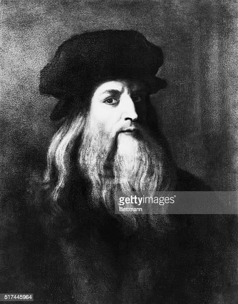 Self portrait by Leonardo da Vinci Ca 16th Century Uffizi Gallery