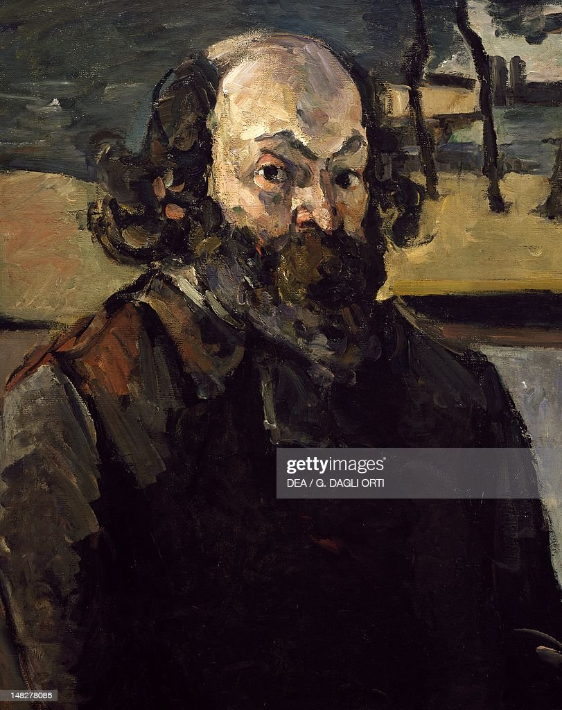 Self Portrait, ca 1875, by Paul Cezanne (1839-1906), oil on canvas, 65x54 cm. (Photo by DeAgostini/Getty Images); Paris, Musée D'Orsay (Art Gallery).